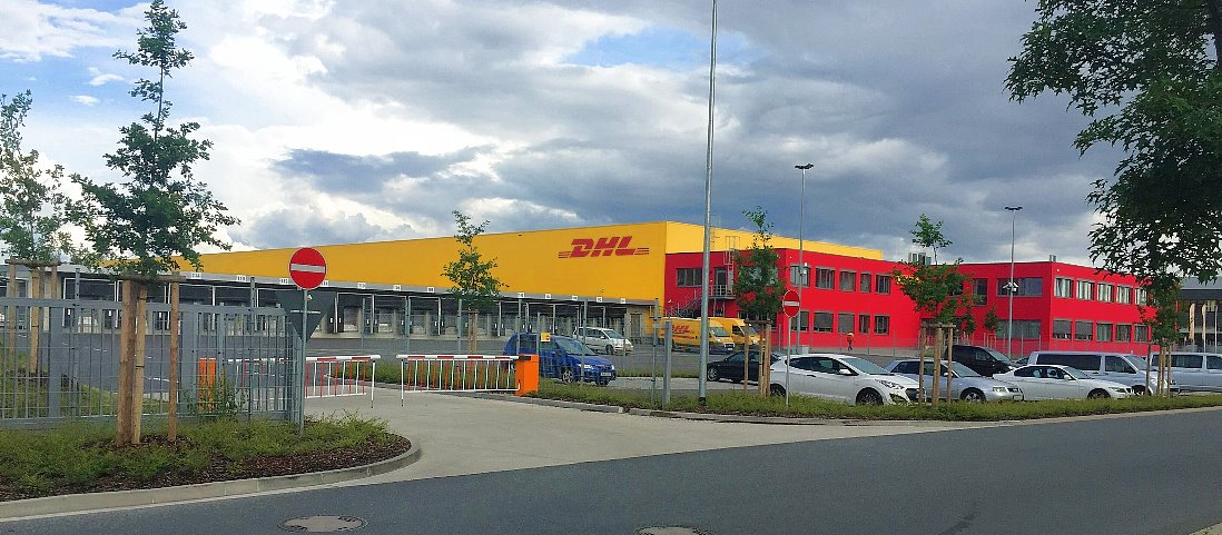 dhl express in n rnberg erlangen station von dhl express. Black Bedroom Furniture Sets. Home Design Ideas