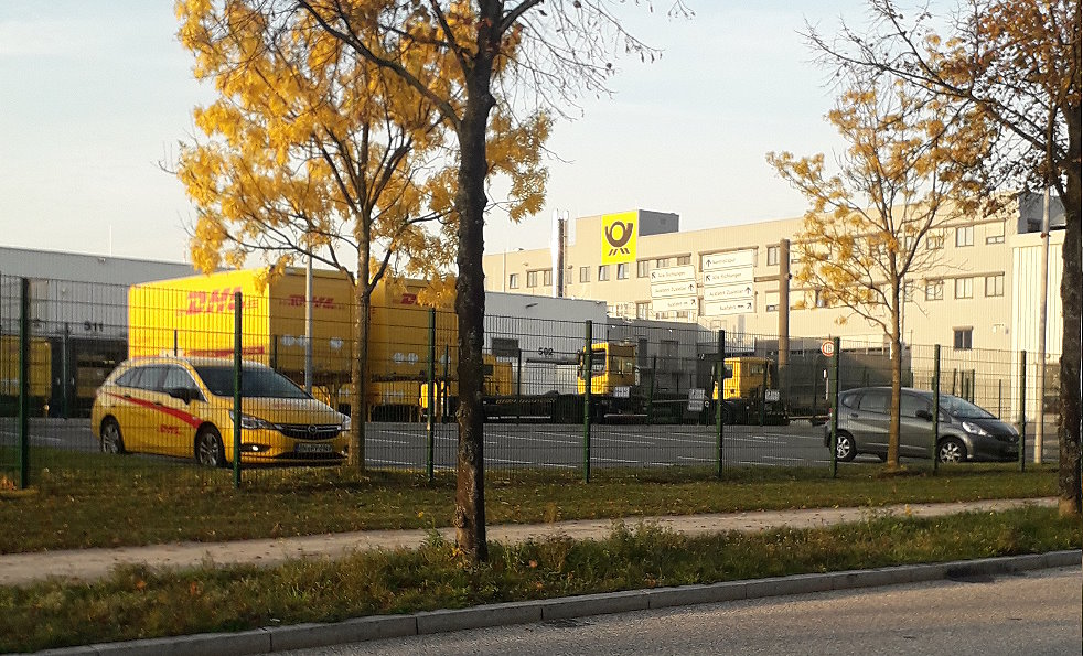 DHL Paketzentrum in Hamburg Allermöhe