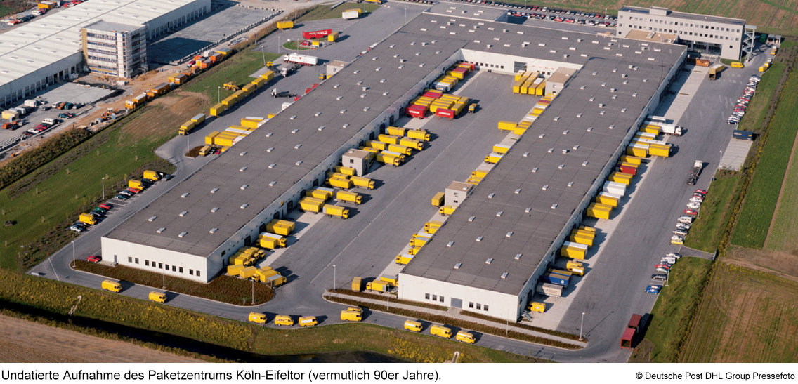 dhl paketzentrum k ln west am eifeltor nationales paketzentrum von dhl. Black Bedroom Furniture Sets. Home Design Ideas