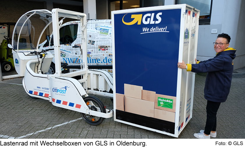 Lastenrad von GLS in Oldenburg