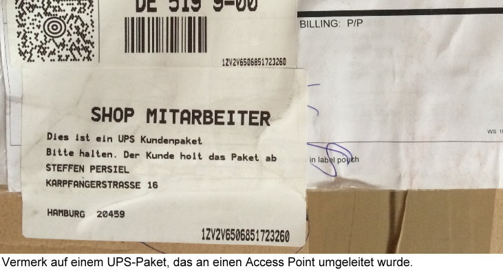 Ups Zugestellt Access Point